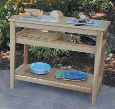 Free Plans For Outdoor Table by These Bbq Table Plans Are Designed For The Beginner Woodworker