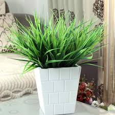 artificial green grass simulation plastic plants for home office