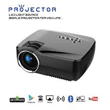 wireless projector home theater gp70up android 4 4 mini led wi fi projector 1080p 1g ram 8g rom