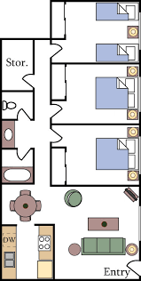 three bedroom apartments floor plans floor plans and pricing aggie square apartments