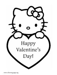 hello valentines day s day hello and a s heart coloring page
