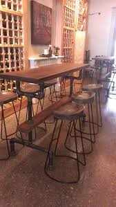 industrial bar table and stools industrial farmhouse bar height table with rustic finish wood