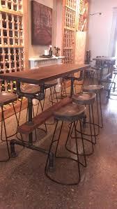 Narrow Outdoor Bar Table Industrial Farmhouse Bar Height Table With By Industrialfarmhouse