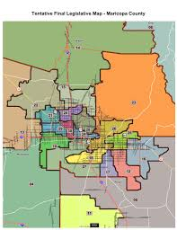 Northern Arizona Map by Five Newly Drawn Districts Could Alter Arizona Legislature