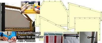 windschutz balkon stoff sichtschutz windschutz universelle stoff bespannungen nach maß