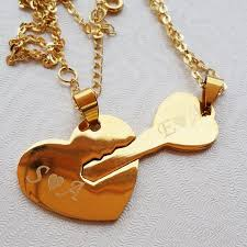 silver heart key necklace images Heart and key necklace couple necklace set unlock my heart jpg