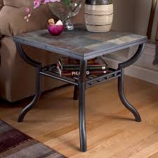 modern wood end table signature design by ashley antigo slate top square end table