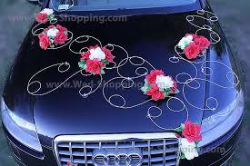 kit deco voiture mariage décoration voiture mariage roses blanches et rouges