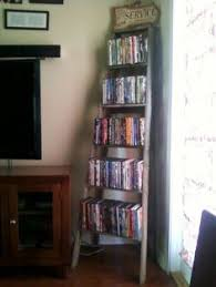 Dvd Shelf Wood Plans by Old Wooden Ladder Dvd Shelf One Of The Best Diy We Have Done Yet