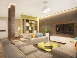 green color home design shining home design stylish family home features bright tropical colors
