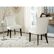 White Leather Dining Room Chairs Bonded Leather Kitchen Dining Room Chairs For Less Overstock