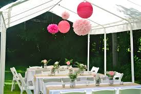Hanging Decorations For Home by Lunch Set Up For The Rustic Country Wedding Shower White Tent
