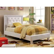Leather Platform Bed Furniture Of America Hilary Tufted Faux Leather Platform Bed