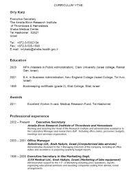 cover letter resume samples for secretary sample resume for