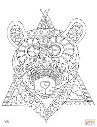 seahorse with tribal pattern coloring page free printable