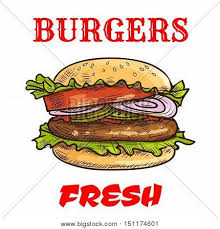 burger fast food sketch icon vector u0026 photo bigstock