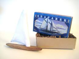 matchbox artpocket boatdriftwood sailboatminiature