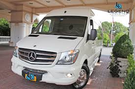 legend limousines inc u2013 white mercedes benz sprinter limo for