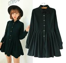 japanese korean style college all match corduroy dress lady