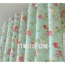 baby blue and pink unique beautiful half price floral curtains