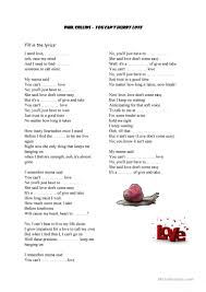 you can u0027t hurry love by phil collins worksheet free esl