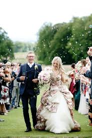 Hire A Wedding Dress Glamorous Scottish Wedding With A Floral Dress U2026 And A Stag Rock