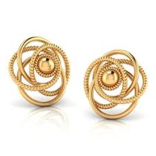 gold stud earings buy gold stud earrings online at best price in india