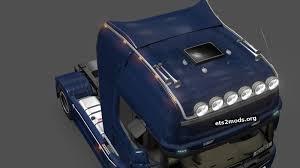 scania trucks long roofgrill for scania trucks ets2 mods