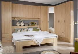 bedroom furniture double deck bed wooden overbed unit above bed