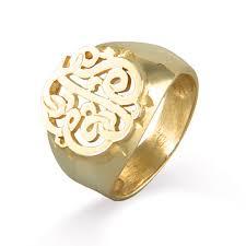 gold monogram rings vermeil custom monogram signet ring s addiction