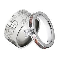 Camo Wedding Ring Sets by Camo Rings U0026 Wedding Bands For Him U0026 Her Camoeverafter