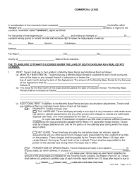 south carolina rental lease agreement templates legalforms org