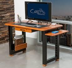Small Apartment Desks Loft Desk Natural Cherry Caretta Workspace
