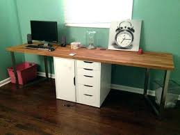 white wood computer desk white desk with wooden legs medium size of office drawers white desk