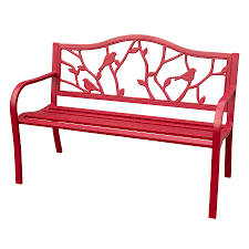 shop garden treasures 25 2 in w x 50 4 in l patio bench at lowes com