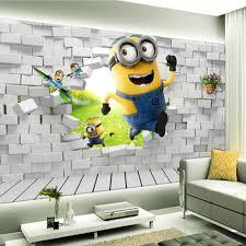aliexpress com buy large 5d papel mural brick cute minion 3d