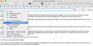 How To Count Words In Textedit In Mac Os X How To Do A Word Count In Textedit On Mac Macworld Uk