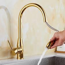 Nouveau design pull out cuisine robinet or 360 degrés pivotant