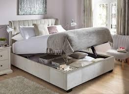 Stylish Bed Frames Winged Upholstered Frame Fabric Frames King Grey Cal Beds