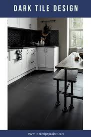 white kitchen cabinets black tile floor 30 kitchen floor tile ideas remodeling kitchen tiles in
