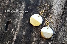 diy drop earrings diy anthropologie inspired gold dipped drop earrings