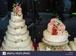 wedding cake ny new york city ny usa wedding cakes on display in bakery
