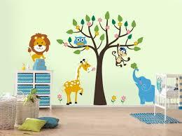 stickers chambre b b arbre chambre enfant stickers chambre bébé thème jungle animaux sauvages