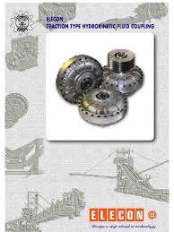 elecon fluid coupling manual belt mechanical