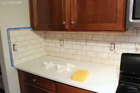 Grouting Kitchen Backsplash  Including Perfect White Subway - No grout tile backsplash