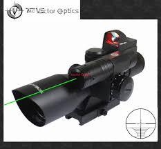 ak 47 laser light combo vector optics 2 5 10x40 hunting green laser riflescope with mini red