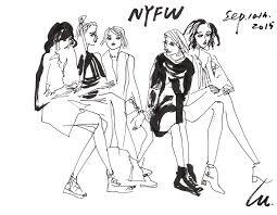 lulu u0027s live sketch at new york fashion week australian women u0027s