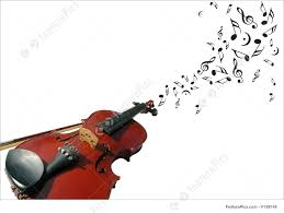 violin with music notes picture