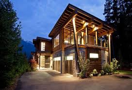 contemporary wooden house designs