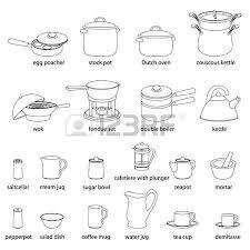 nom des ustensiles de cuisine ensemble d illustrations pour ustensiles de cuisine cuisine